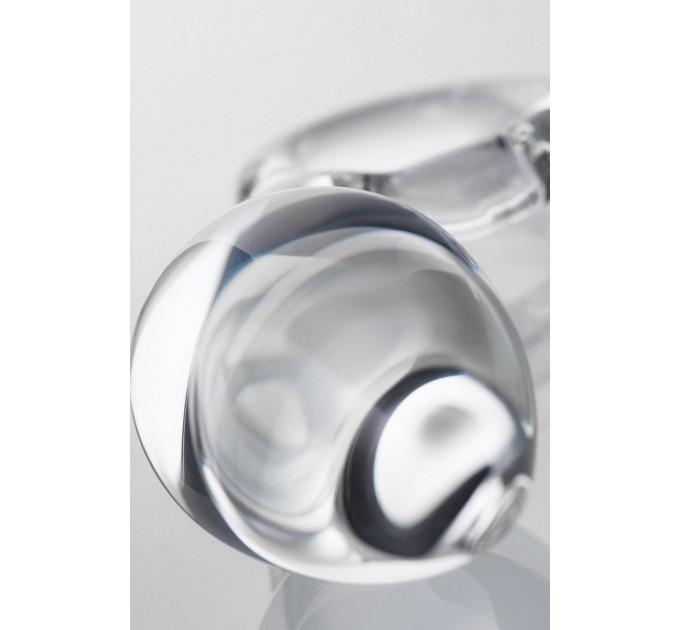 Прозрачная анальная втулка из стекла - 14,5 см.