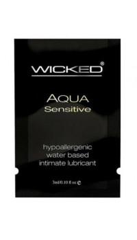 Мягкий лубрикант на водной основе WICKED AQUA Sensitive - 3 мл.